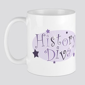"""""""History Diva"""" [purple] Mug"""